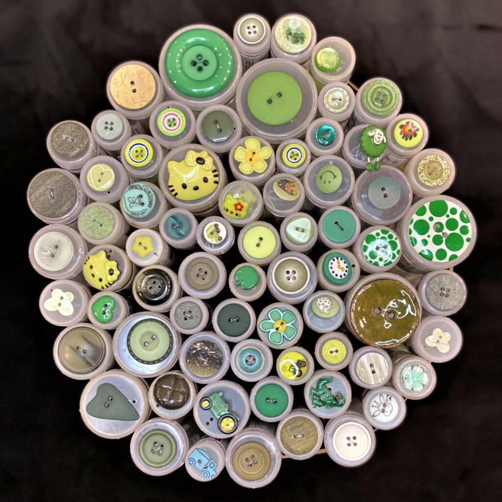 Grønne knapper - Singer Sysenter