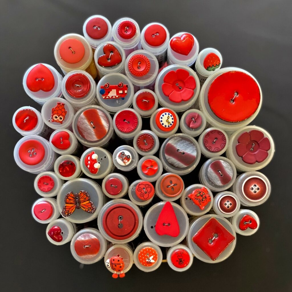 Røde knapper - Singer Sysenter